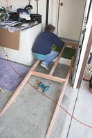 ramp for garage entrance.